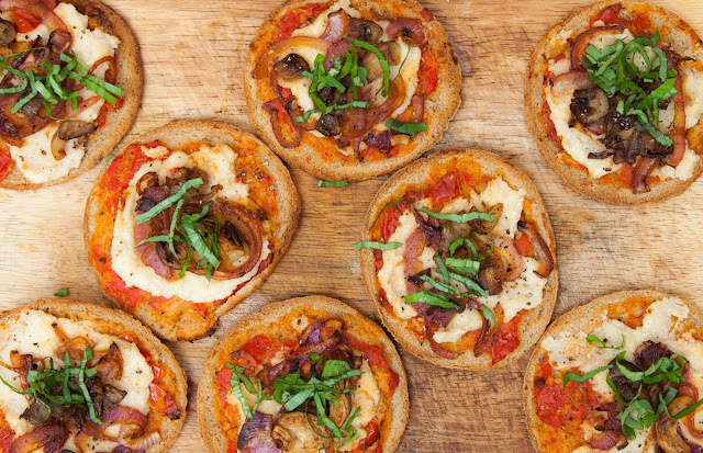 mini pizzas veganas