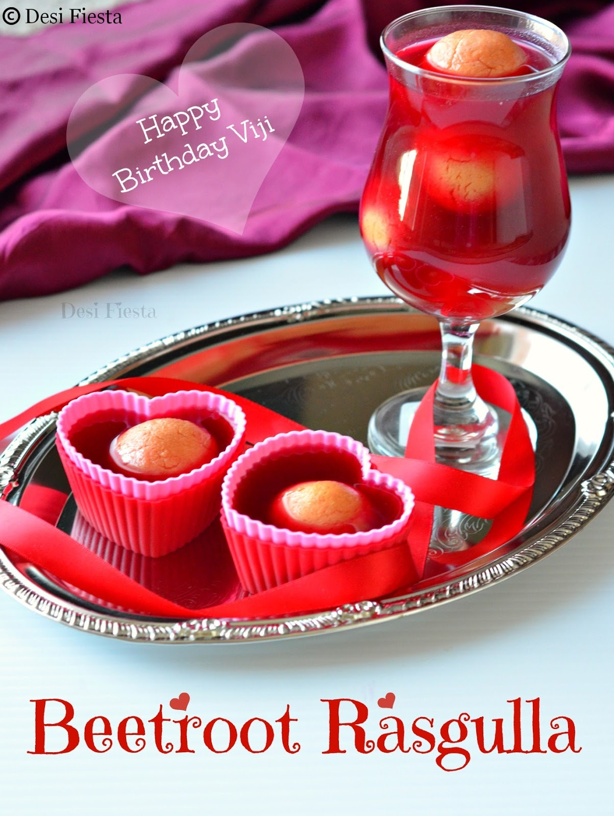 Beetroot Rasgulla - Virtual Party For Viji