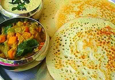 Set dosa / Set dosai - Yummy Combo Set Dosa-Vadacurry Recipe - Chennai Special Dosa Recipes