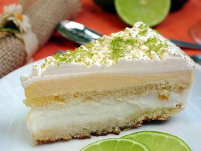 Torta de mousse de limão