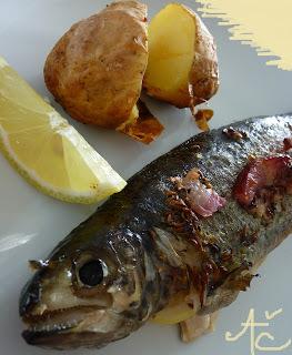 grilovaný losos na zelenine ratatouille