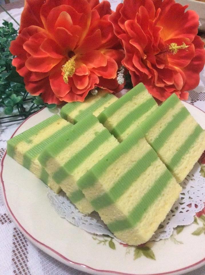 ~~  Pandan Layer Cake ❤ 香兰千层蛋糕 ~~