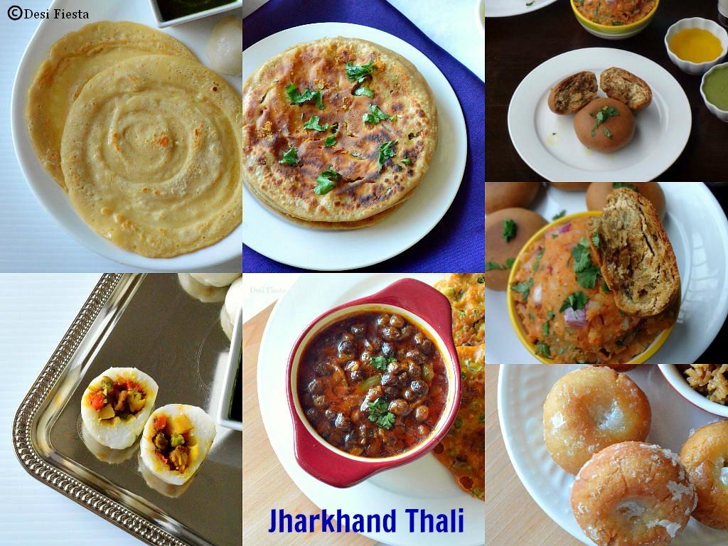Jharkhand  Breakfast Thali  |Chilka Roti , Namkeen Pitha, Litti Chokha, Ghungni , Sattu Ka Paratha