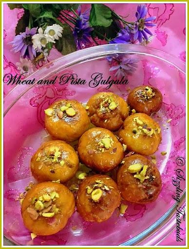 WholeWheat Pista Gulgula | Indian Sweets | Festival Recipes