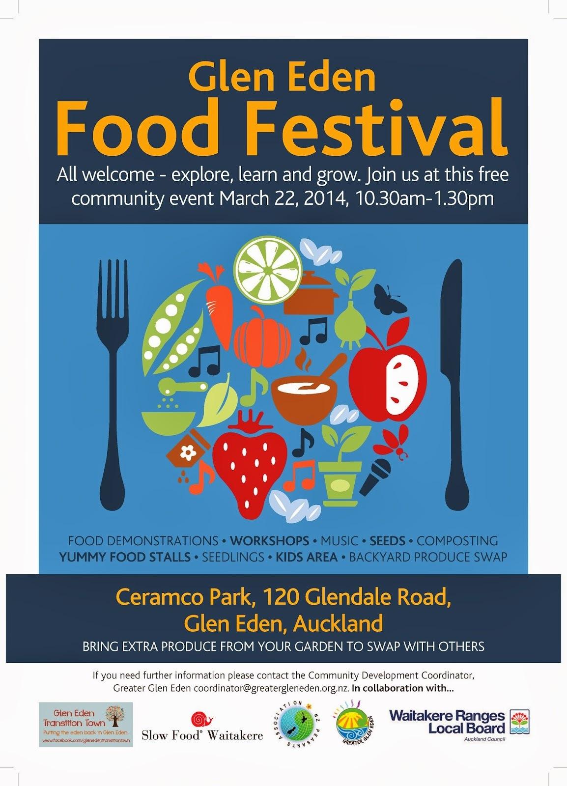Next Saturday in Auckland: Glen Eden Food Festival, Free Entry