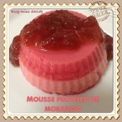 Mousse Proteico de Morango