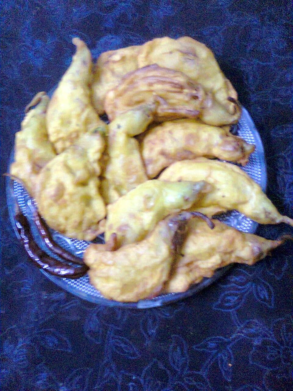 Delicious Snacks  -  Bok Phool Fritters / Bengali Bok Phool Bhaja