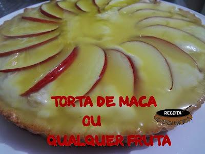 TORTA PERFEITA DE MACA OU QUALQUER OUTRA FRUTA
