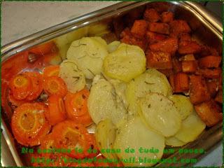 legumes assado