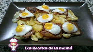 Receta de Patatas con Beicon y Huevos de Codorniz