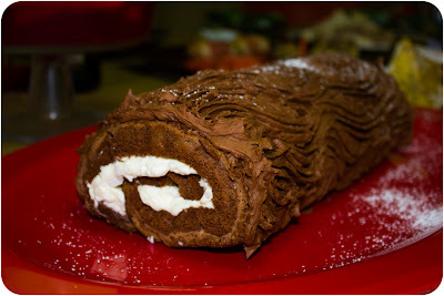 Chocolate & Coconut Yule Log