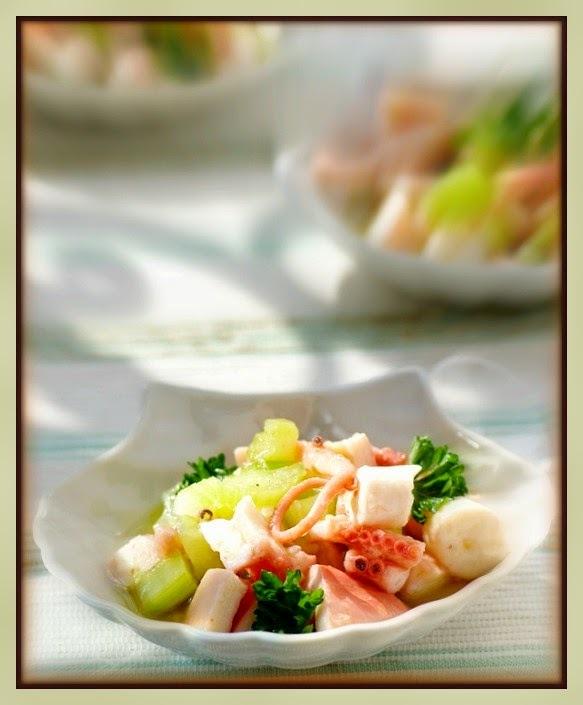 Salada mediterrânea de polvo