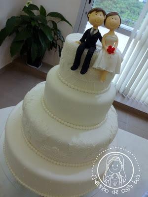 Bolo de Casamento Branco