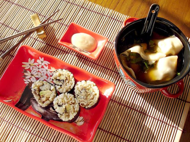 La suite de mon festin asiatique avec les sushis au avocat & shiitake