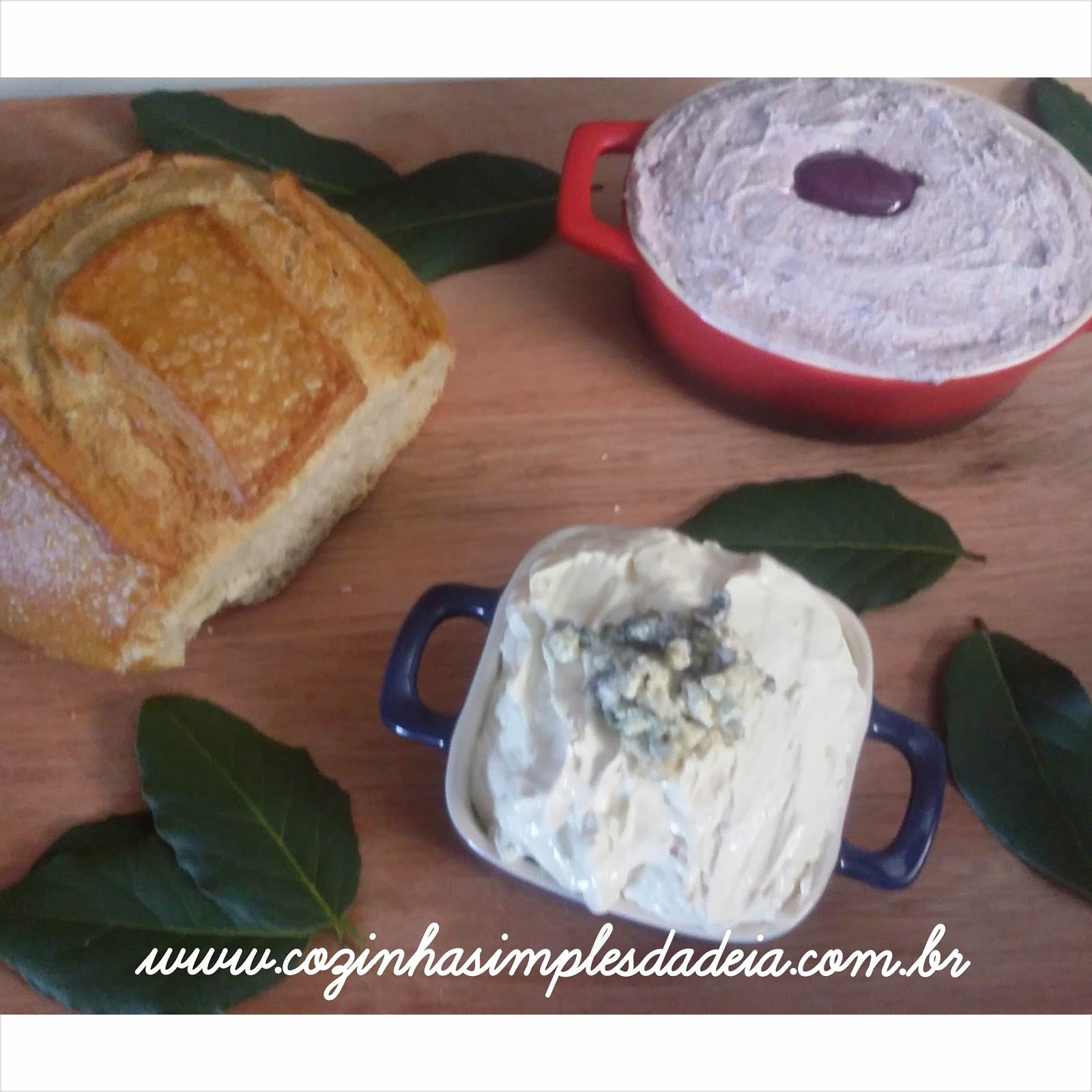 Entradinhas - Patês de azeitonas e gorgonzola