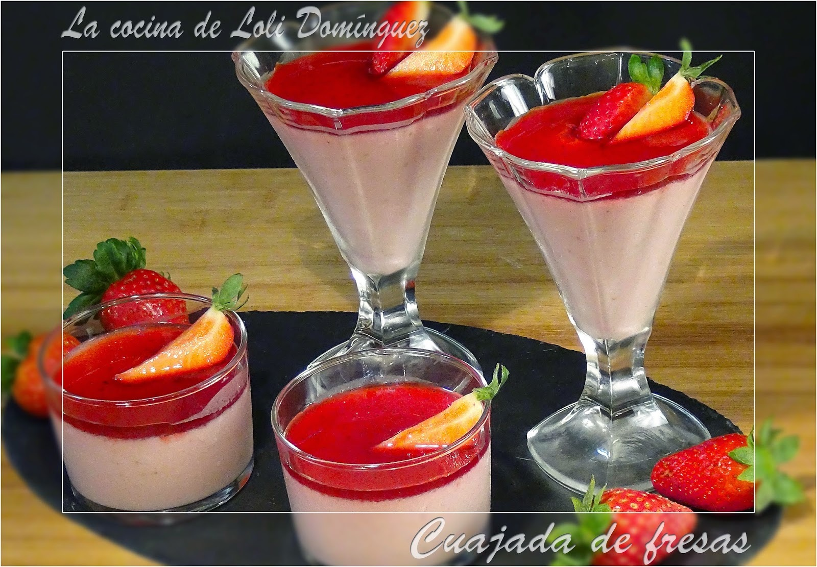 Cuajada de fresas