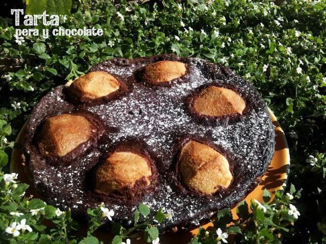 Aprovechando la fruta de la estación | Tarta de peras y chocolate