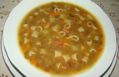 Zuppa di Pasta e Lenticchie