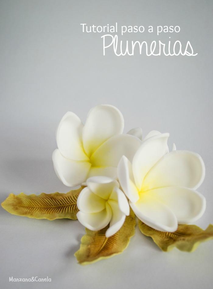 Tutorial paso a paso para hacer Plumerias con pasta de goma (y resultado del Concurso!)