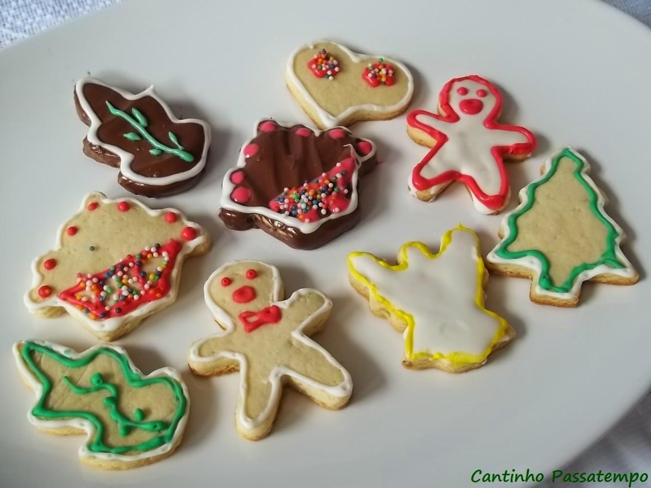 Curso de bolachas decoradas para o Natal.Bolachas de leite e amêndoas