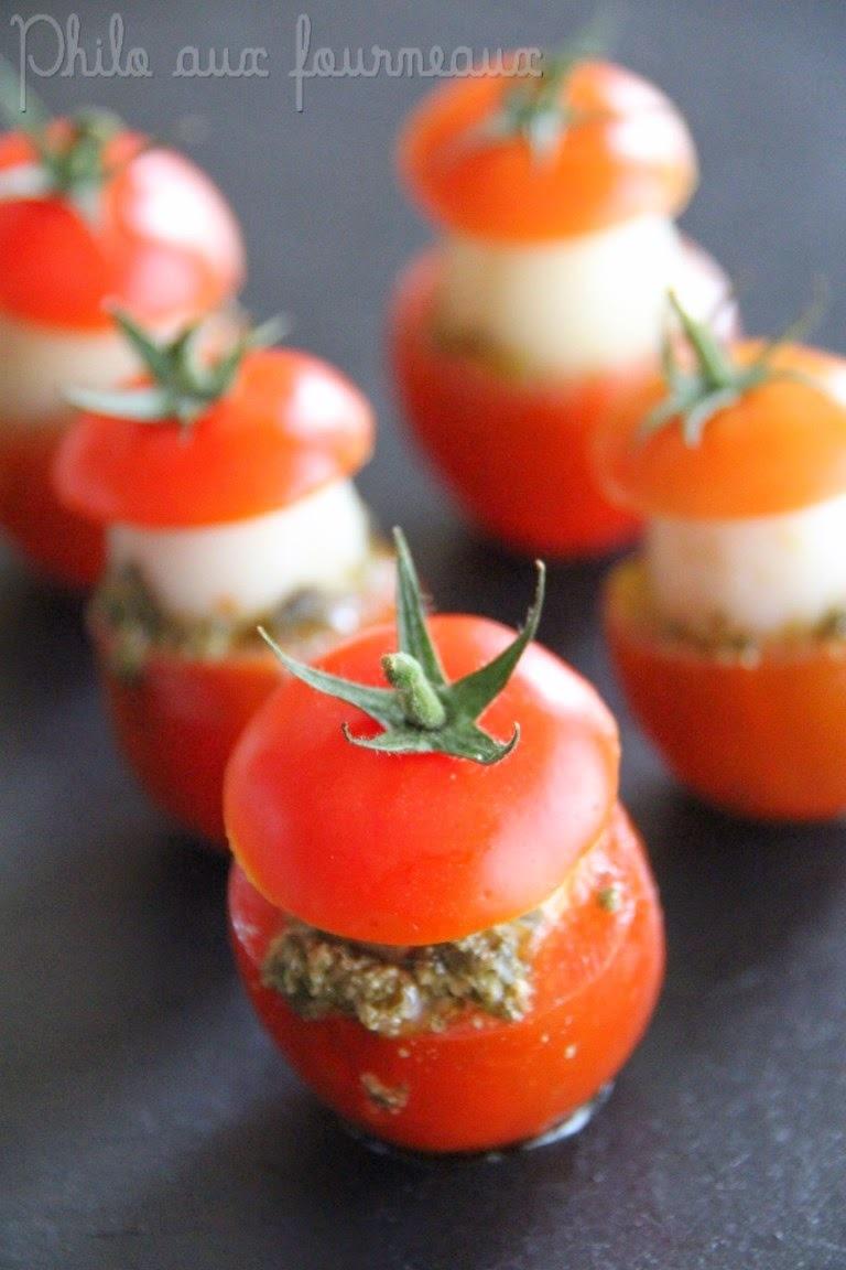Tomates cocktail aux oeufs de caille