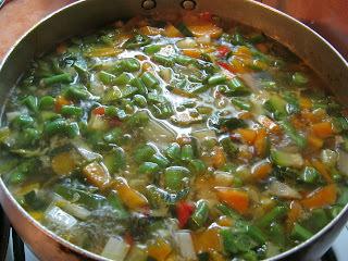Sopa de Verduras, en Tres Versiones