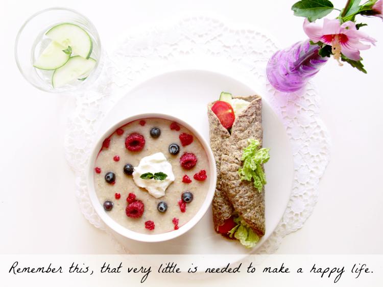 dokonalé raňajky + recept na zdravý ´wrap´ ♥