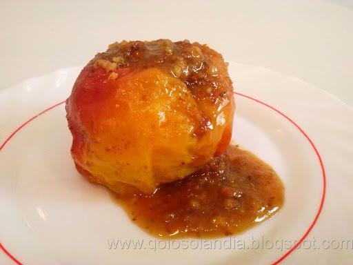 Manzanas asadas rellenas (microondas , receta casera )