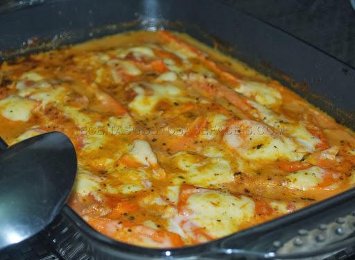 lasanha de cenoura com ricota