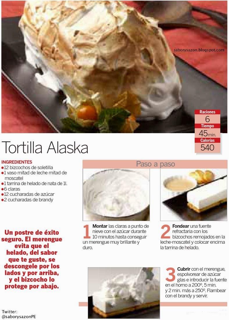 TORTILLA ALASKA - Receta sencilla / Reposteria facil