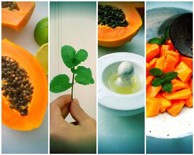 Papaya, Lime and Mint Salad