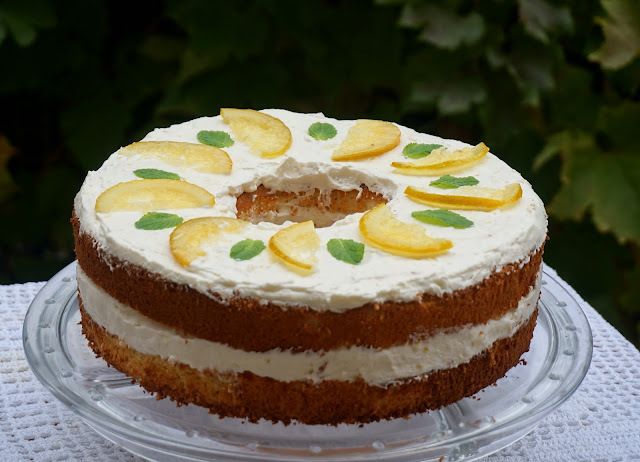 Sunshine naked cake de limón