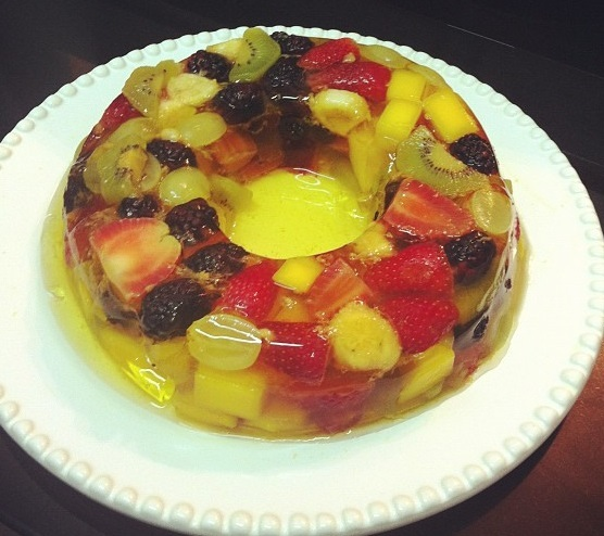 como preparar gelatina de fruta com agar agar