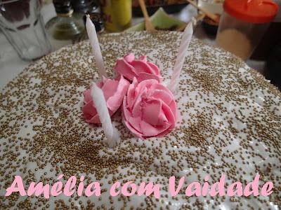 Bolo de Coco, Abacaxi e Marshmallow - preparado com kefir