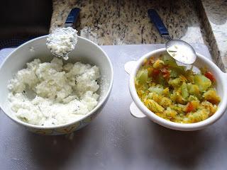 Suflê de legumes com cottage :)