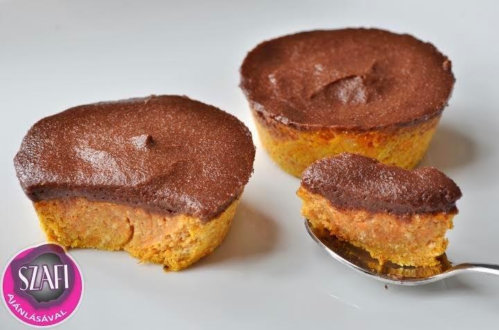 Light paleo sárgarépa muffin light paleo csokoládé pudinggal