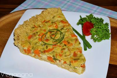 Torta de Grão de Bico com Legumes
