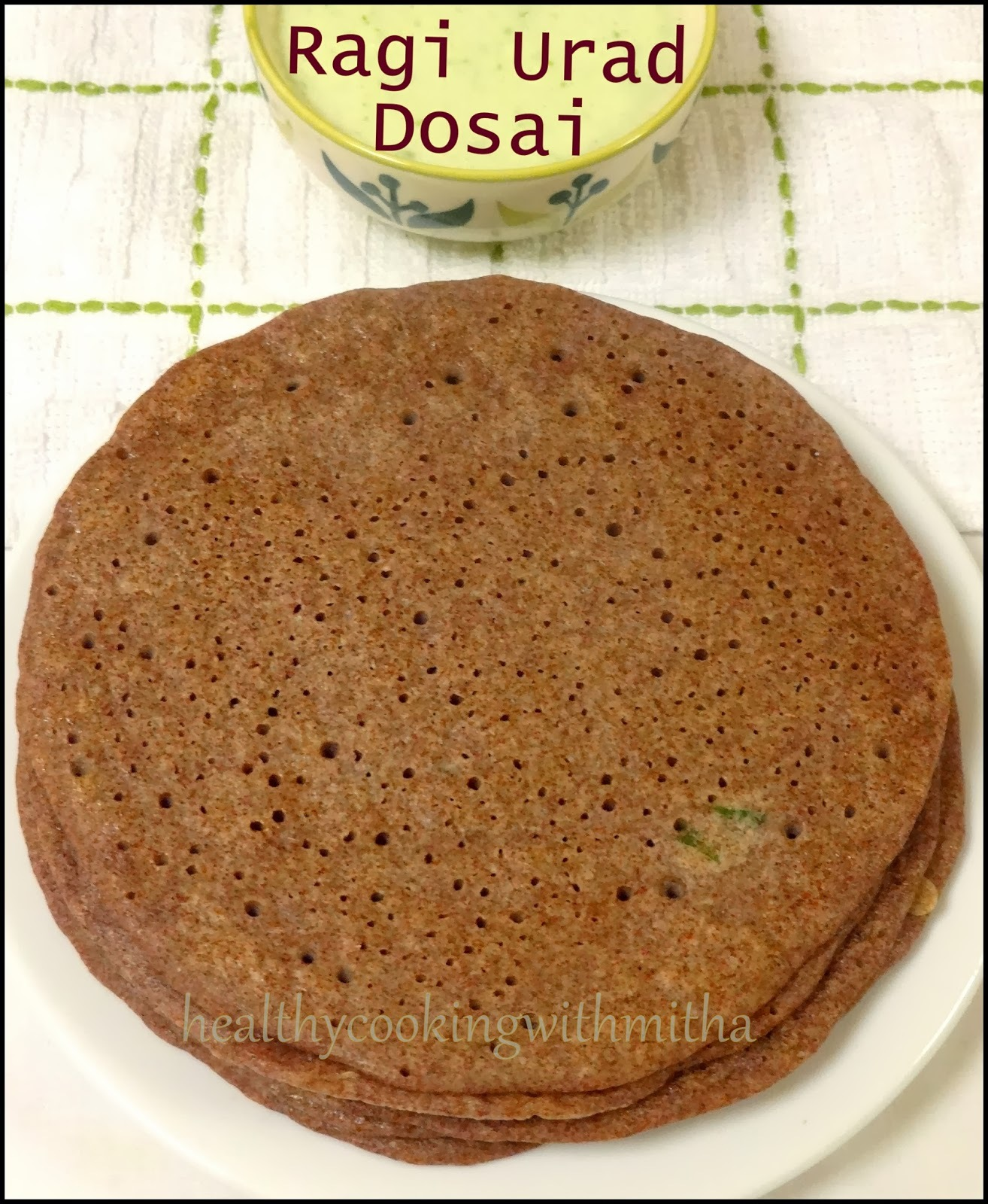 dosa from rice flour and urad flour