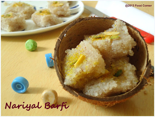 Coconut Barfi Recipe | Nariyal Barfi