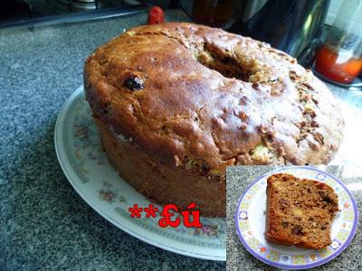 bolo de abacaxi com farinha de trigo integral e adoçante