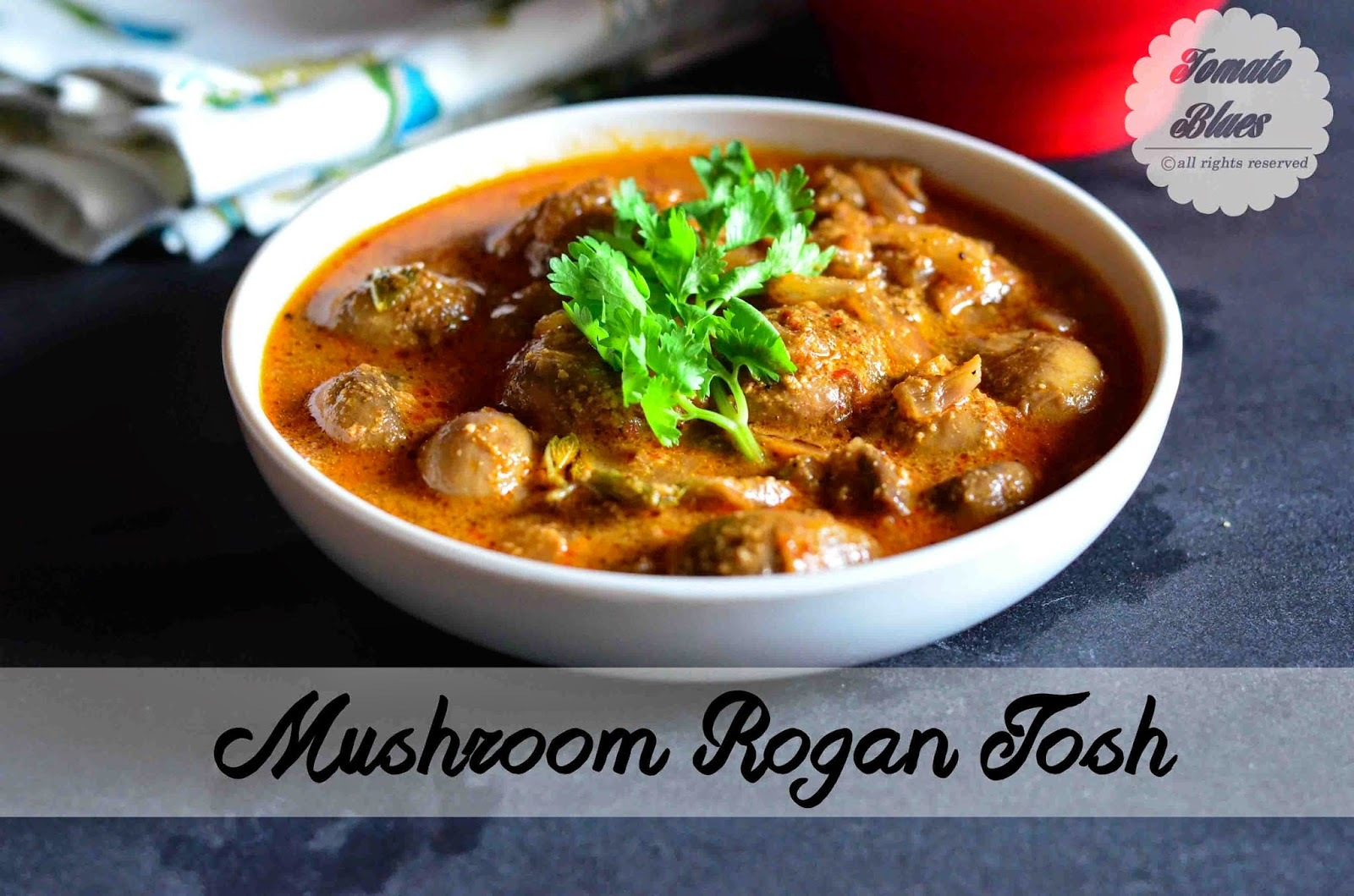 Mushroom Rogan Josh Recipe| Side Dishes For Flatbreads