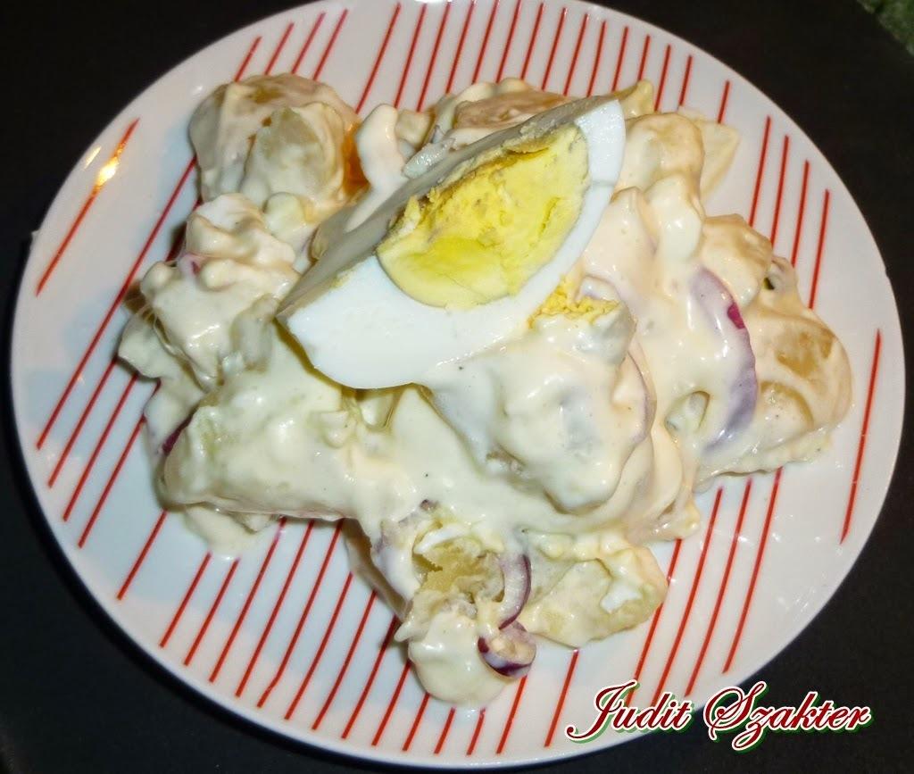 Majonézes burgonyasaláta tojással
