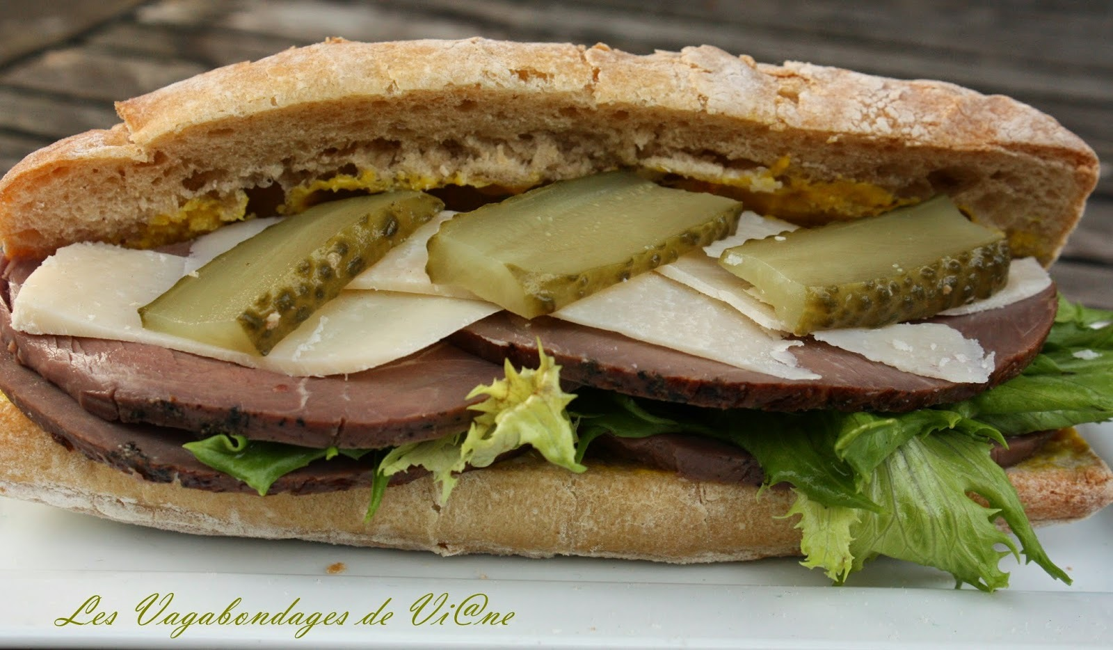 Sandwich au rosbeef, tout simple