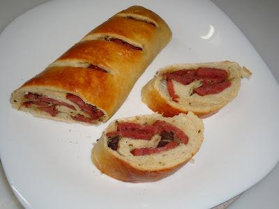 pão recheado com calabresa