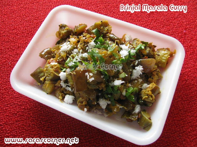 spicy brinjal curry for chapathi