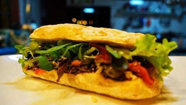 Receitas - Sanduíche de bife de Chorizo