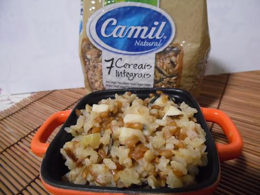 arroz com alho e queijo