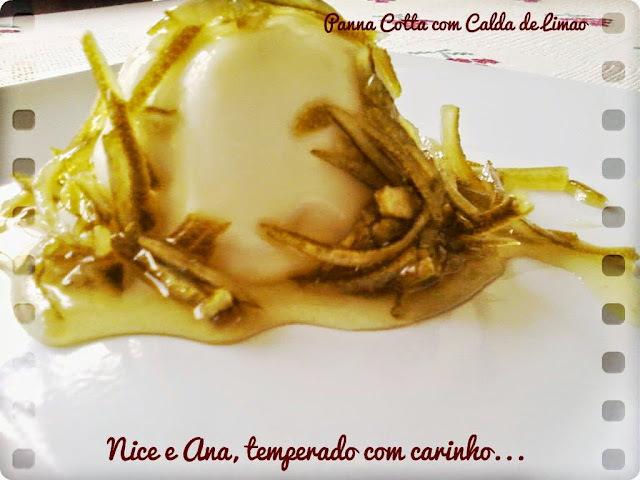 Panna Cotta com Calda de Limão