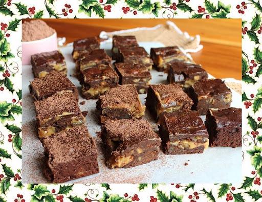 Brownie com Marron-Glacé e Dulce de Leche