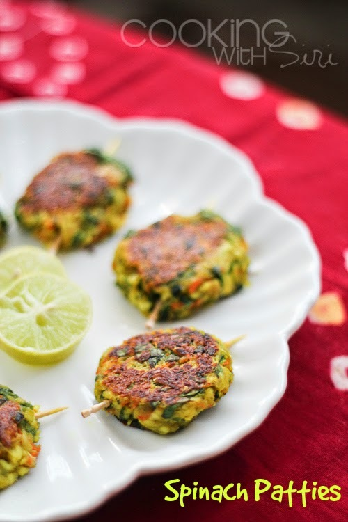 "[Meatless Monday] H for Hara Bhara Kebabs (Spinach Patties) | H for Happy! + a chance to win one of  three copies of ""Rainbows in the Desert and Other Stories"" book"